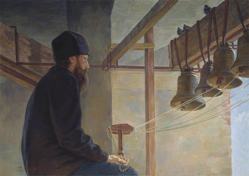 Н.А. Горский-Чернышёв . Картина : Тихая молитва (левая часть триптиха