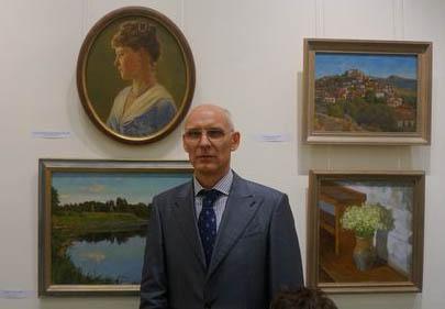 На юбилейной выставке Николая Горского-Чернышёва. Москва, 2014 г.<small>(Фото Игоря Дрёмина).</small>