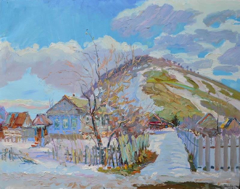 А.А. Горячев. Картина : Весна в Ширяево. 70Х80. Х.М.