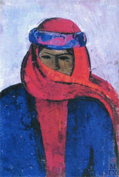 Т.В. Хвостенко. Картина : Портрет Хайдаровой. 1970.Камень, энкаустика. 80х120