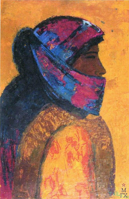 Т.В. Хвостенко. Картина : Мовле Дайза. 1977. Камень, энкаустика. 53.5х80