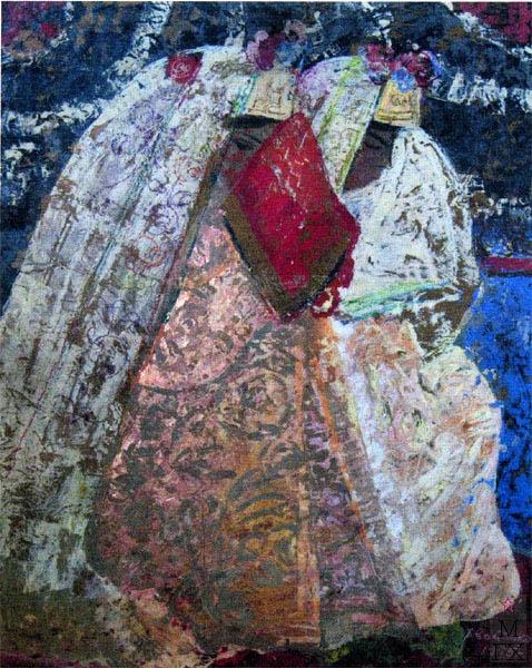 Т.В. Хвостенко. Картина : Узбекские невесты. 1972. Камень, энкаустика. 120х80
