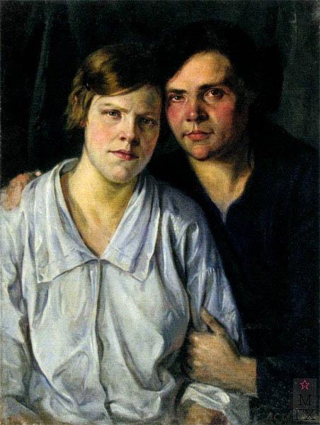 В.В. Хвостенко. Картина : Сестры. 1919. Холст, масло. 59х79