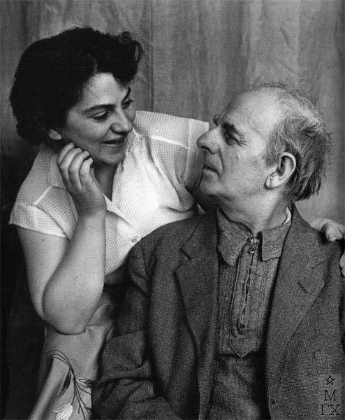 Татьяна Хвостенко с отцом, художником В.В. Хвостенко