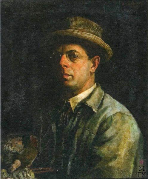 В.В. Хвостенко. Картина : Автопортрет. 1927. Х.М. 54х65