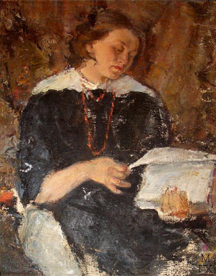 Д.С. Жилов. Женский портрет. 1915 г. Холст, масло.