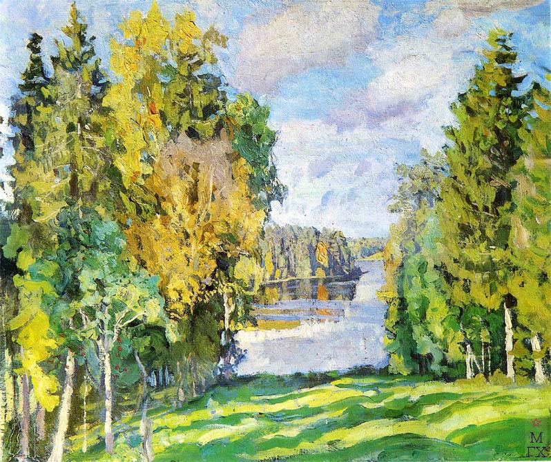 С.Ю. Жуковский. Еловый берег (Осень в островках). 1909 г.