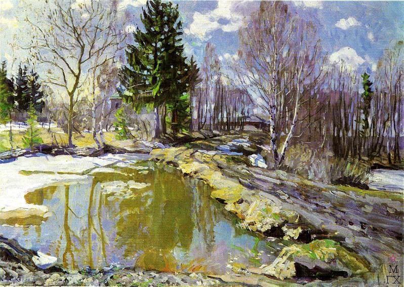 С.Ю. Жуковский. Под весенним солнцем