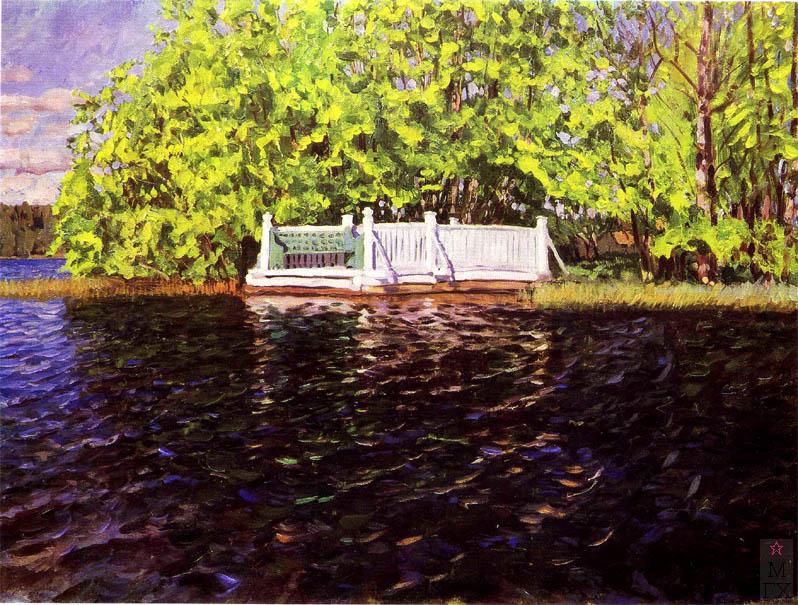 С.Ю. Жуковский. Купальня в парке. 1911 г. Калининская обл. картинная галерея.
