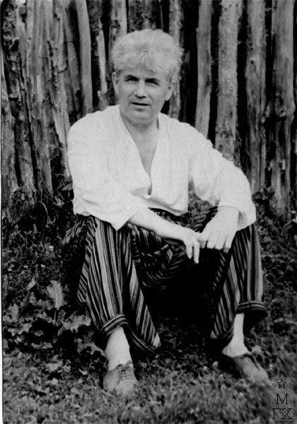 Н.П. Христенко в Тарусе. 1955 г.