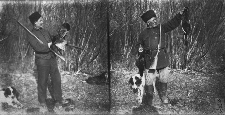 Н.П. Христенко на охоте на Северном Кавказе