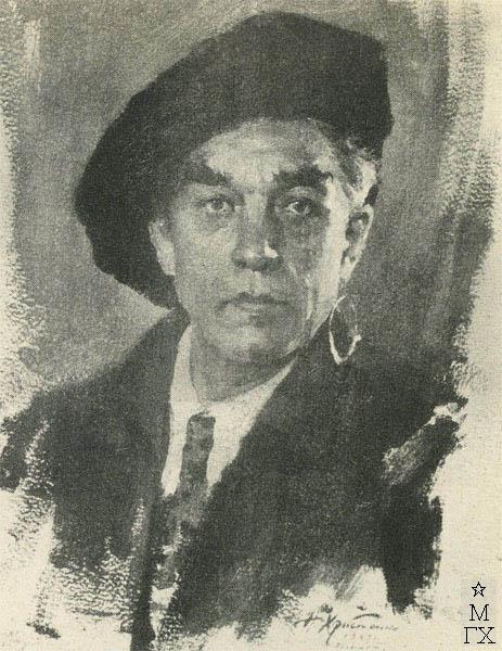 Н.П. Христенко. Картина :  Портрет художника В.С. Сварога. 1943. Холст, масло