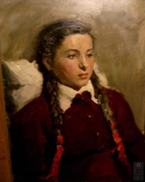 Н.П. Христенко. Картина :  Портрет дочери Галины. Холст, масло