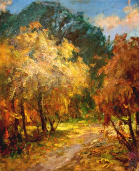 Н.П. Христенко. Картина :  Золотая осень.  Холст, масло