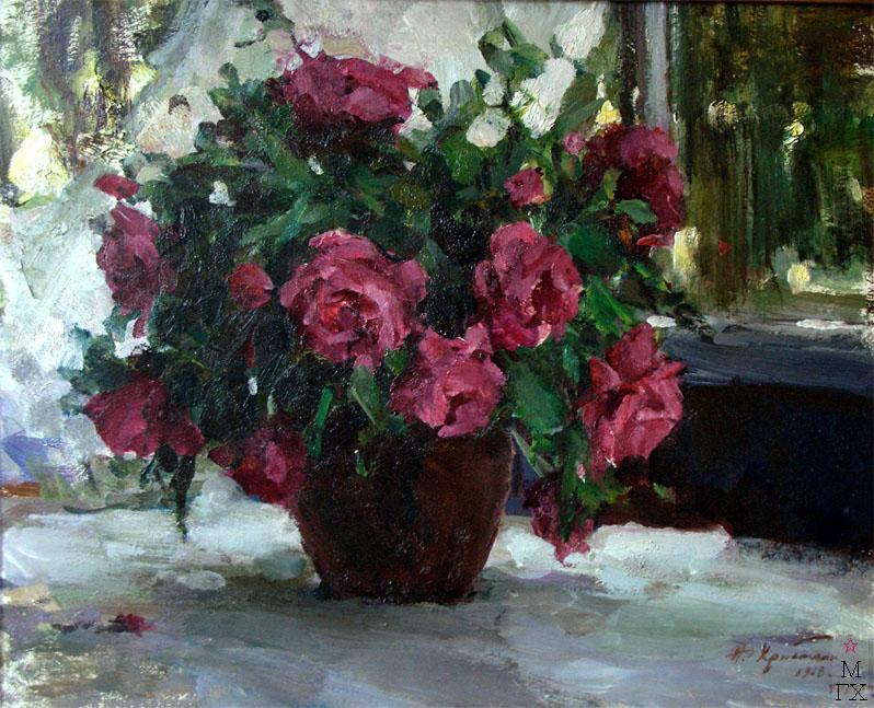 Н.П. Христенко. Розы. 1968. Холст, масло
