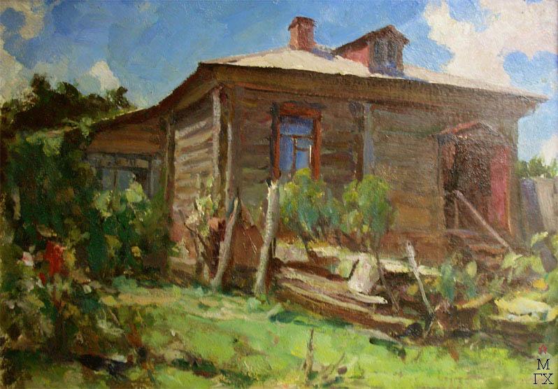 Н.П. Христенко. Картина : Дом в Тарусе