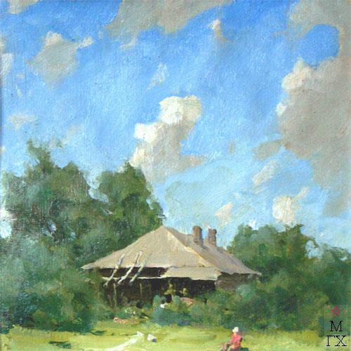 Н.П. Христенко. Картина : На даче в Звенигороде