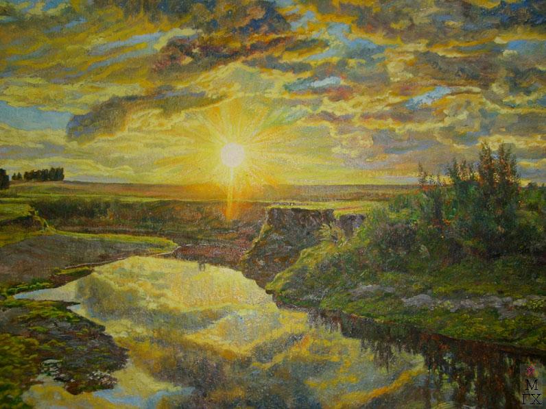 М.И. Климентов. Картина : Закат. 1933 год. 71,4х51,8, холст, масло.