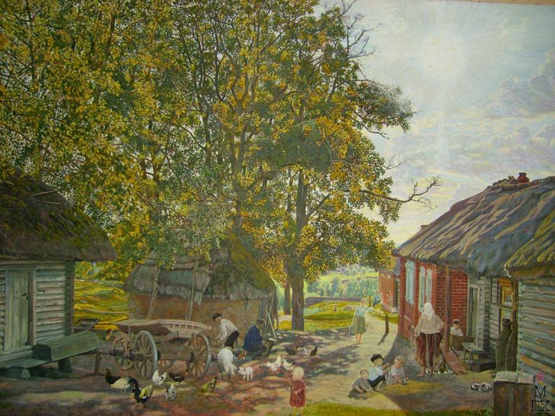 М.И. Климентов. Картина : Лето в деревне. Акварель. 1927 год. 61х43,5