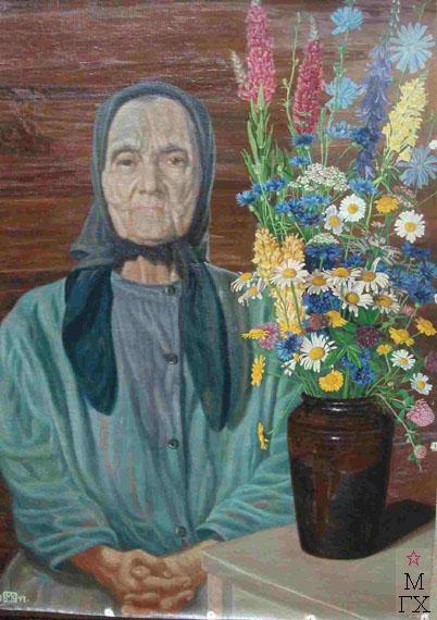 Портрет мамы. 1942 г. Масло, холст, 69х49.