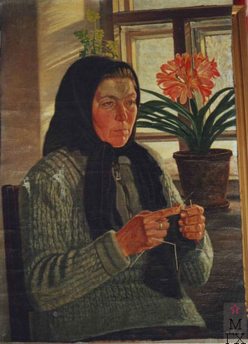 Мария Павловна, жена брата художника. Холст, масло.