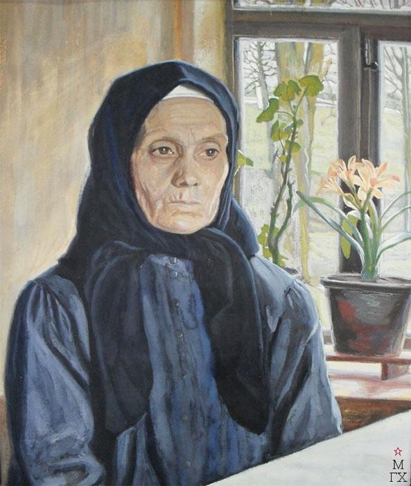 М.И. Климентов. Картина : Портрет матери. 1922. Бумага, гуашь. 59х50