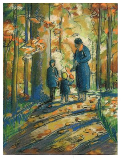 В.В. Кудряшев. Картина : Осень в Сокольниках