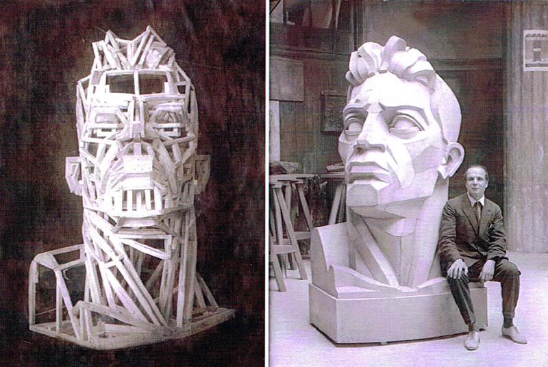 В.В. Кудряшев. скульптура : Голова рабочего