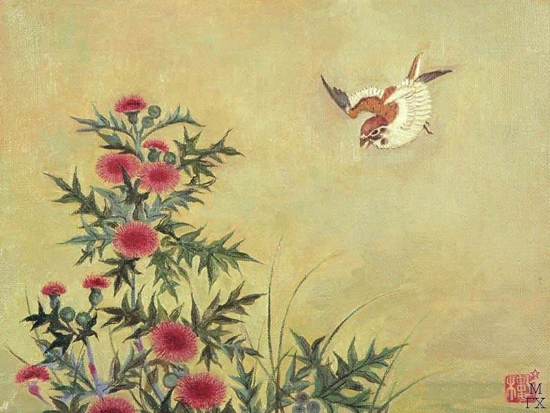 Е.М. Кугач. Японская мелодия. 2001. х./м. 40х50.
