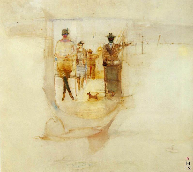 А.А. Лабас. Картина : В кабине аэроплана. 1928. Холст, масло. 78х92. ГТГ
