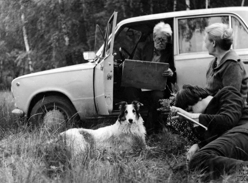 А.Н. Либеров в окрестностях деревни Акиньшино. 1980-е.