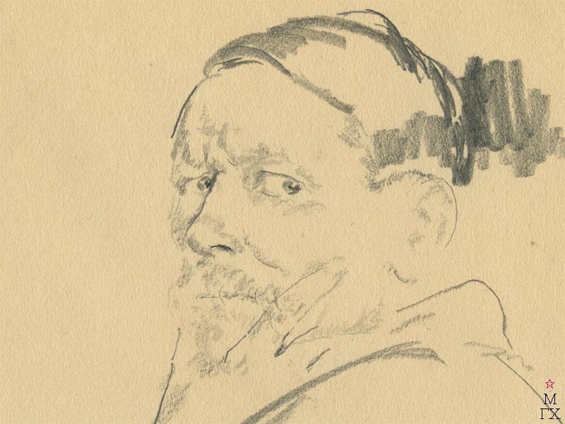 Ф.А. Малявин. Автопортрет. Начало 1920-х гг. Бум., карандаш