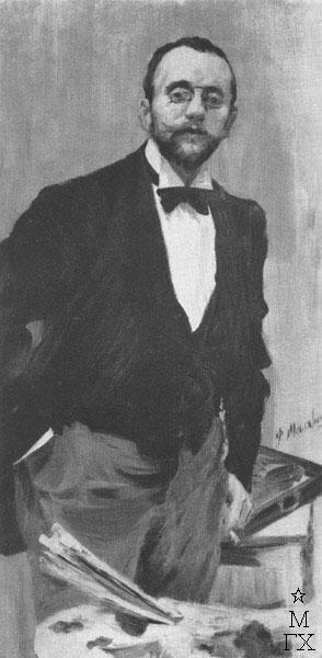 Ф.А. Малявин. Портрет И.Э. Грабаря. 1895. Х.М. 131х63. Государственный Русский музей