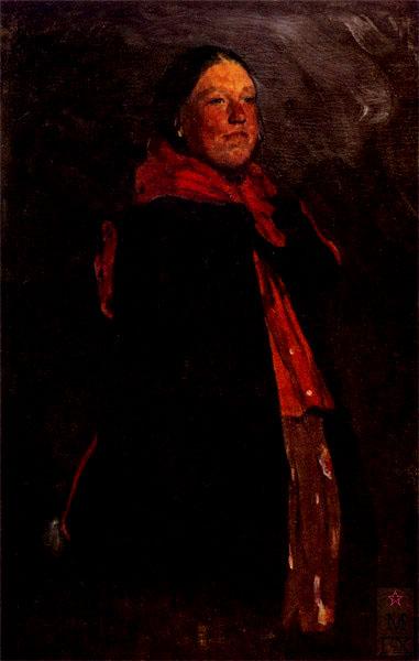 Ф.А. Малявин. Девушка. Рубеж 1890-х. Холст, масло. 130х83. Художественный музей, Минск