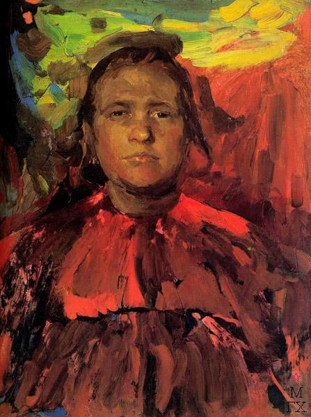 Ф.А. Малявин. Картина : Баба. 1916. Холст, масло. 154х95. Рязанский обл. худ. музей