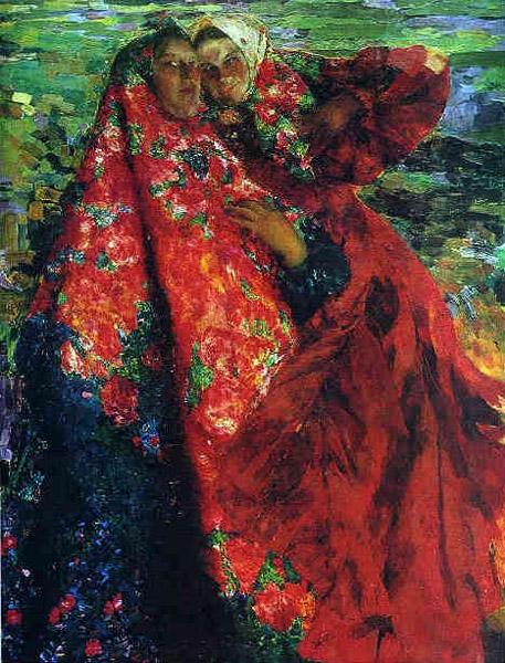 Ф.А. Малявин. Картина : Крестьянки. 1904. Холст, масло. 206х159.
