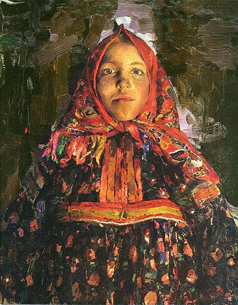 Ф.А. Малявин. Картина : Верка. 1913. Холст, масло. 106х84. ГРМ