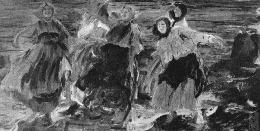 Ф.А. Малявин. Картина : Смех. 1899. Холст, масло. Музей совр. искусства, Венеция