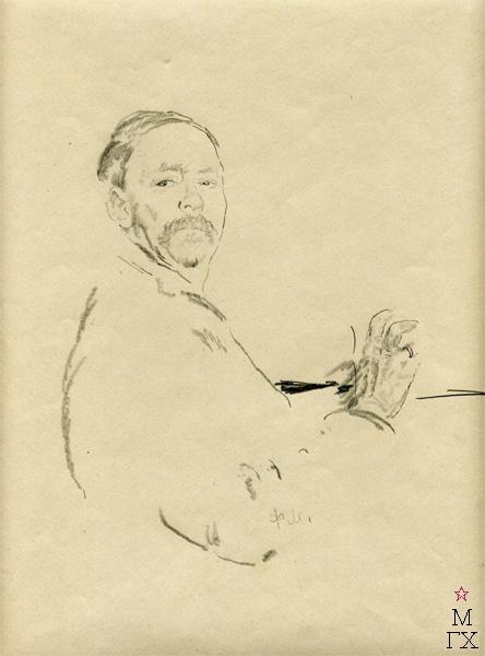 Ф.А. Малявин. Автопортрет. Бумага, карандаш