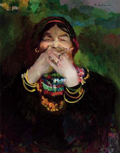 Ф.А. Малявин. Смеющаяся баба.  Холст, масло. 81.3х65.4.