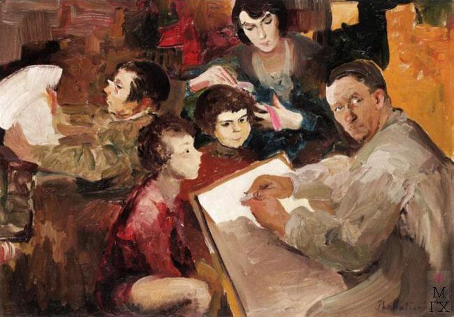 Ф.А. Малявин. Картина : Семейный портрет