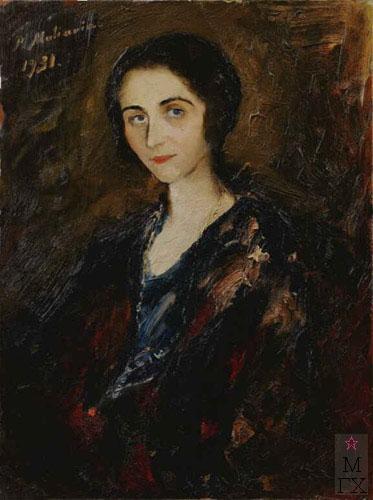 Ф.А. Малявин. Женский портрет. 1931. Холст, масло.