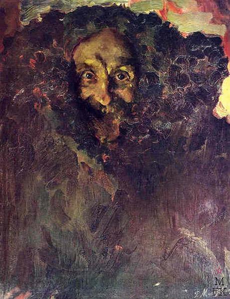 Ф.А. Малявин. Картина : Портрет скульптора Владимира Беклемишева. 1910
