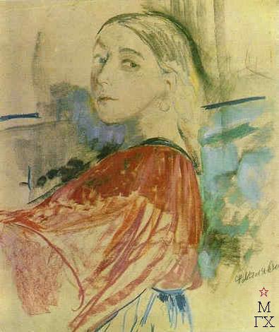 Ф.А. Малявин. Картина : Молодая крестьянка. Около 1912 г.