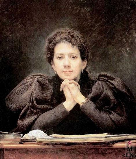 Г.М. Манизер. Картина :  Портрет Стеллы Семеновны Манизер. 1895