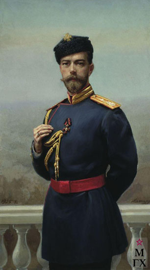 Г.М. Манизер. Картина : Император Николай II с орденом Святого Владимира. 1905