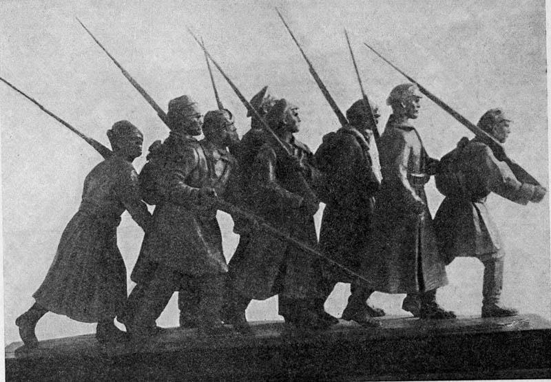 М.Г. Манизер. Проект памятника обороне Петрограда от Юденича