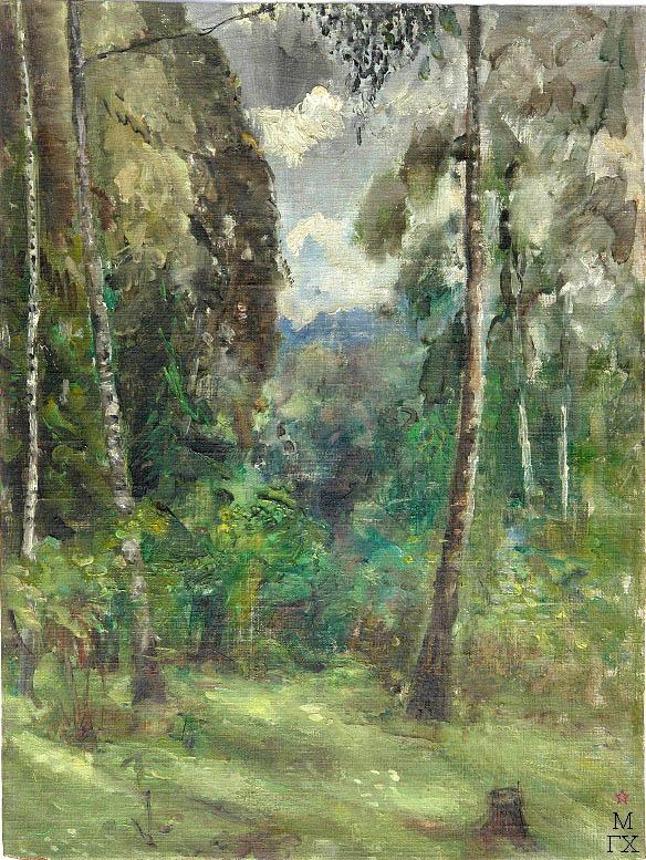Д.В. Мирлас. Картина : В лесу