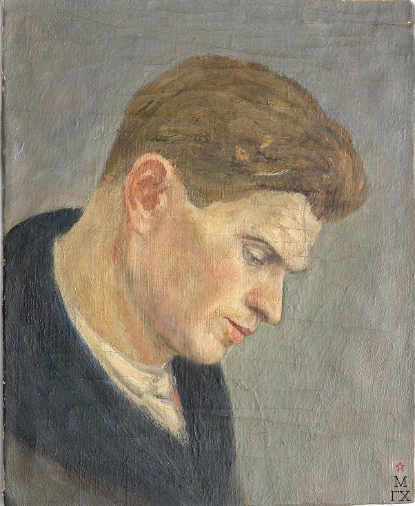 Д.В. Мирлас. Картина : Портрет молодого человека