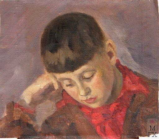 Д.В. Мирлас. Картина : Портрет сына  Вацлава.